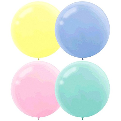 Round Pearlized Latex Balloons | Assorted Pastel | Pack of 4 | Party Decor