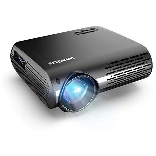 chollos oferta descuentos barato Proyector WiMiUS 7000 Proyector Full HD 1920x1080P Nativo Soporta 4K Audio AC3 Proyector Video Ajuste Digital 4D 90 000 Horas Proyector LED para Cine en Casa y Presentación Empresarial