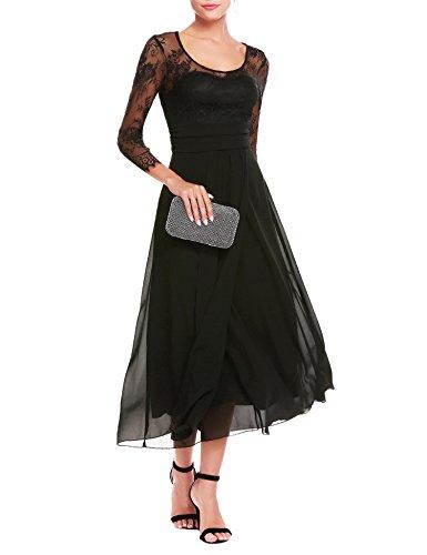 long black pleated dress - 5