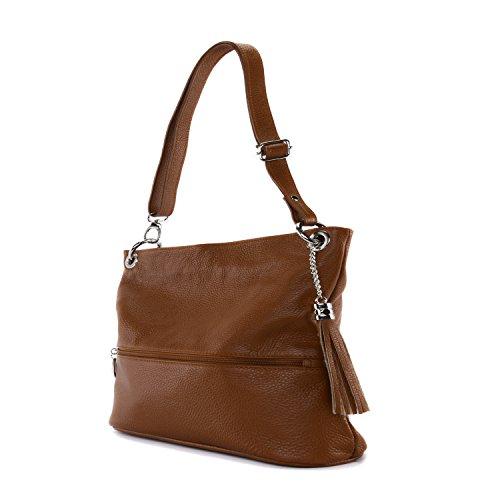 Oh My Bag–Bolso de piel mujer–modelo Kors COGNAC FONCE