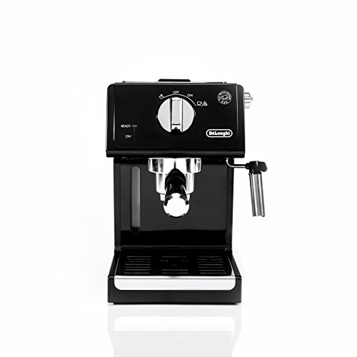 De'Longhi 15 Bar Espresso Machine With Advanced Cappuccino System, 9.6 X 7.2 X 11.9 Inches, Black/Stainless Steel