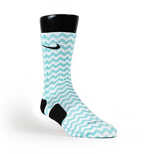 HoopSwagg Chevron Turquoise Custom Elite Socks supplies