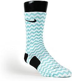 Chevron Turquoise Custom Elite Socks