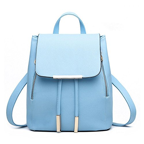Casual SYXLCYGJ Leather Womens Blue Sky Backpack Shoulder Purse Fashion PU Girls amp; Bag FaF8f