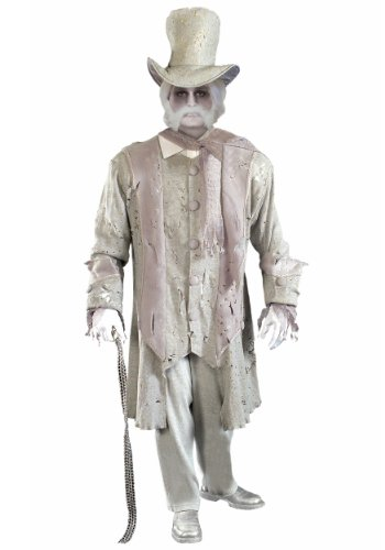 Halloween White Ghost Costume (Forum Novelties Men's Ghostly Gentleman Costume, Gray/White,)