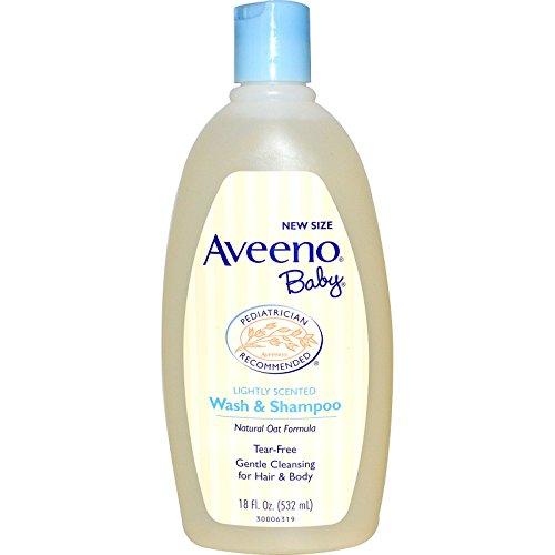 Aveeno, Baby, Wash & Shampoo, Lightly Scented, 18 fl oz (532 ml) - 2pc