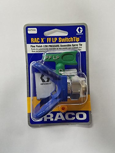 Graco RLP516 Fine Finish Low Pressure RAC X Reversible Tip with RAC X Guard (Reversible Spray Tip Guard)
