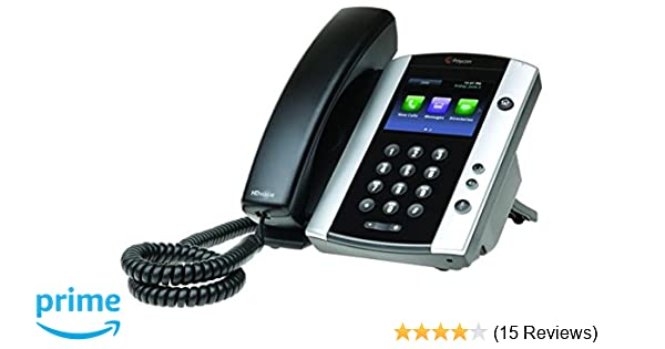 Polycom VVX 411 Corded Business Media Phone System 12 Line PoE with AC Adapter