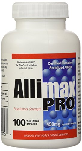 Allimax Pro 450mg 100 Vegicaps. Allicin Garlic Supplement to Support Your Body's Immune Function. With Stabilized…