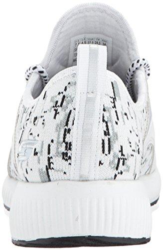 Skechers Bobs Womens Bobs Squad-double Dare Fashion Sneaker Wit / Zwart Grijs