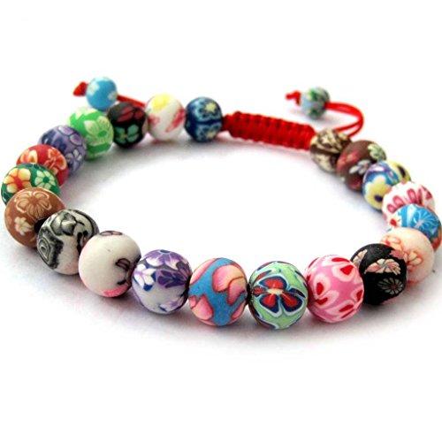 Polymer Beads Buddhist Prayer Bracelet