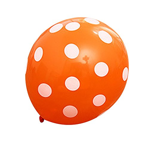 Balloons, Doinshop 10 PCs Latex Polka Dot Balloon Party Wedding Birthday Decorating (Orange Polka Dot Balloons)