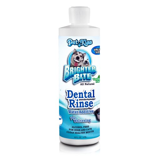 Pet Kiss Brighter Bite Dental Rinse for Pets, 16-Ounce, My Pet Supplies