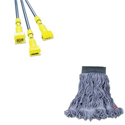 KITRCPA152BLURCPH246GY - Value Kit - Rubbermaid Web Foot Wet Mop (RCPA152BLU) and Rubbermaid-Gray Gripper Wet Mop Handle (RCPH246GY) by Rubbermaid