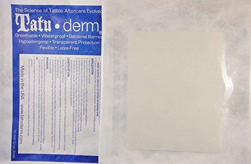 Tatu-Derm - Best Tattoo After Care Bandages/Patch (Sheet - 6X4