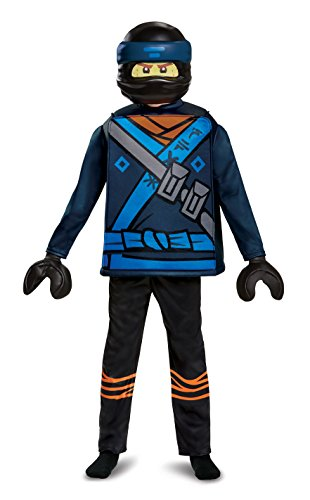 Disguise Jay Lego Ninjago Movie Deluxe Costume, Blue, Medium (7-8)]()