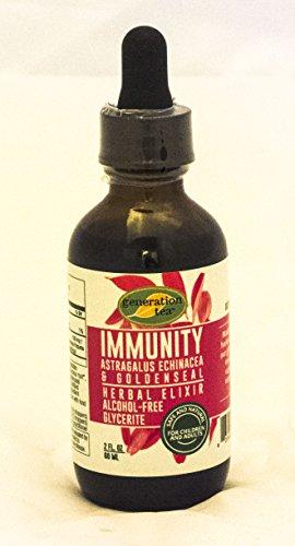 Immunity Herbal Elixir Alcohol Free Glycerite 2 oz. liquid Astragalus, Echinacea, Goldenseal ()