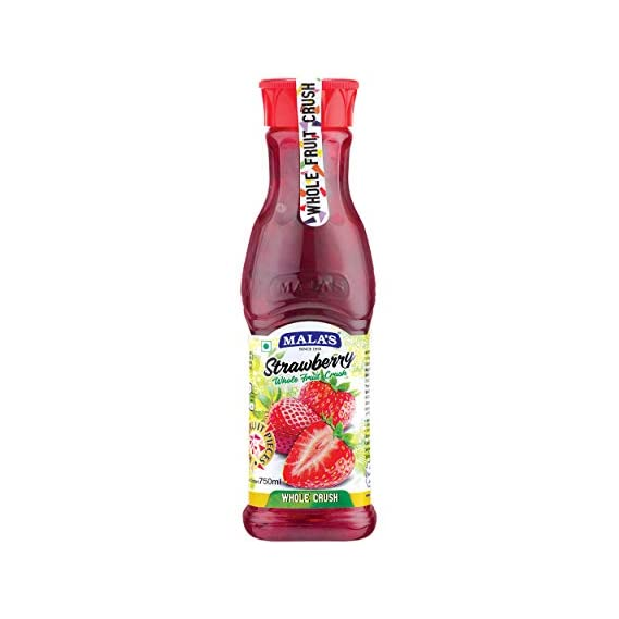 Mala's Whole Fruit Crush - Strawberry, 750ml