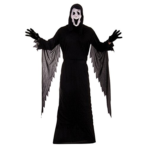 [Adults Large Demon Ghost Scream Mask Stabby Hallloween Costume by Henbrandt] (Official Scream Costumes)