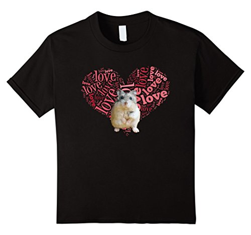 Kids I Love Dwarf Hamsters T-Shirt - Heart Shaped Robo Lover Gift 12 (Dwarf Youth T-shirt)