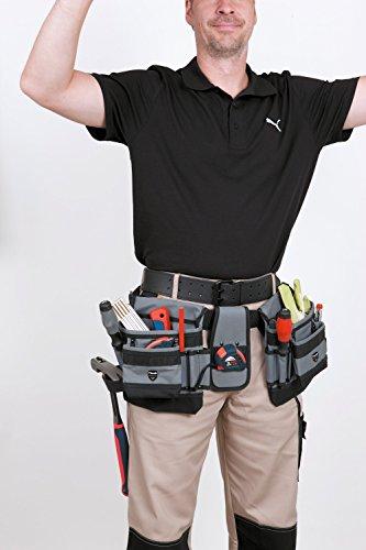 kwb 907910 Sacoche à outils en nylon, 2 compartiments et ceinture en nylon