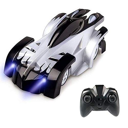 Wall Climber (Tuptoel RC Climbing Car for Kids Rechargeable Radio Control with LED Mini 360° Rotating Gravity Remote Control Car Toy Vehicle Stunt Car Black)