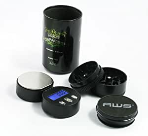 AWS Can Safe + Grinder + 100g x 0.01g Digital Scale (3-in-1)