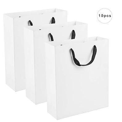 Amazon.com: Salmue - Bolsas de papel kraft con asa, para ...