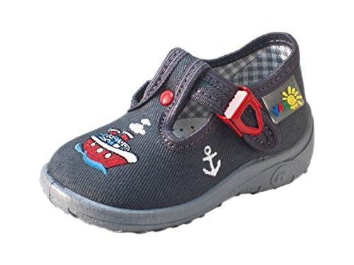 Yaro - Zapatillas de estar por casa de algodón para niño grau/Schiff