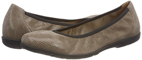 346 Ballet Flats Beige CAPRICE Reptile Taupe 22150 Women''s TwqnFS0