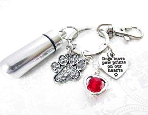 Pet Loss Keychain, Pet Ashes Keychain, Urn Keychain, Ashes Carrier, Paw Keychain, Pet Loss Gift, Heart Keychain, Car Accessories