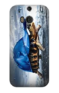S0084 Turtle in the Rain Case Cover for HTC ONE M8