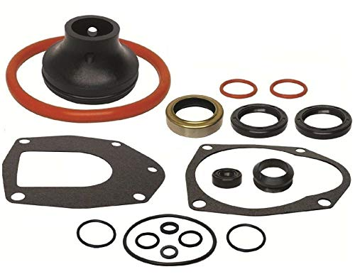 GLM Lower Unit Gearcase Seal Kit for Mercruiser Alpha I Generation II 2 Replaces 18-2646, 26-816575A3 Read Product Description for Exact Applications ()