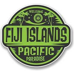 Fiji Islands Decals Stickers (TWO PACK!!!) Cars Trucks Vans Walls Laptops Printed Color 2-4 in decals KCD569