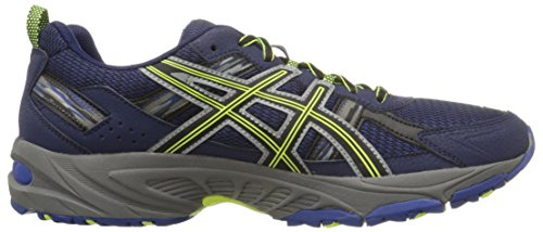 ASICS Men's Gel-Venture 5-M, Indigo Blue/Black/Flash Yellow, 8 M US