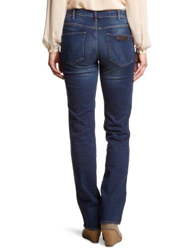 Blue Jeans Droit Dark Bleu Sara Wrangler Femme TOW887