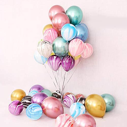 44 Pieces 12inch Chrome Shiny Metallic Latex Balloons