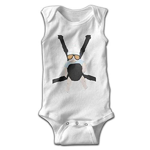 FUNINDIY Unisex Infant Bodysuits Baby Carlos The Hangover Alan Boys Babysuit Sleeveless Jumpsuit Sunsuit Outfit White