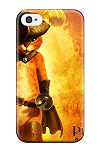 Perfect 2011 Puss In Boots Movie Case Cover Skin For Iphone 4/4s Phone Case