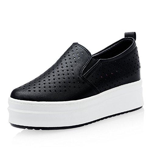 Hueco estrellas zapatos en verano/Zapatos de plataforma/Zapato de mujer alta transpirable/Zapatos de suela gruesa/Mocasín/Zapatos del ocio Coreano B