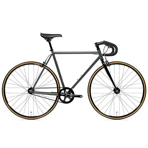 State Bicycle 4130 Steel - Double Butted Grade Chromoly Steel - Fixed Gear/Single Speed Road Bike | Drop