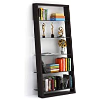 BDI Eileen 75 Leaning Shelf Bookcase Finish: Espresso