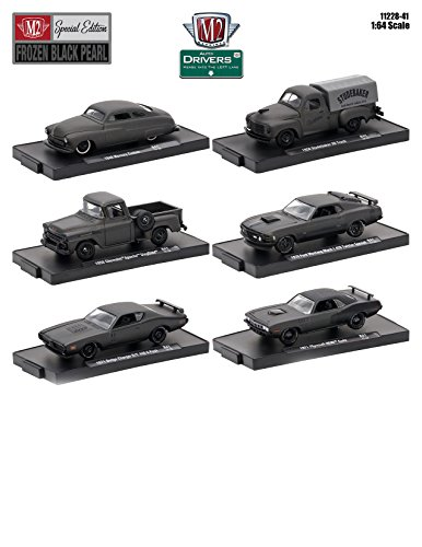 """Drivers 6 Cars Set Release 41 """"Special Edition"""" Frozen Black Pearl In Blister Packs 1/64 by M2 Machines 11228-41 from M2 Machines"""
