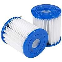 XIAOL Filtro para piscina para Bestway Tipo I, sustituye a cartuchos de filtro, accesorios de filtro de limpieza de…