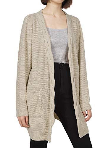Tricot avec sans Longue Poches Femme Sweaters Casual Pull Manche Cardigan en Bouton Pull HENCY Veste RYqCz