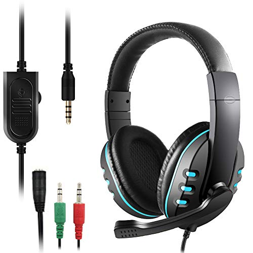 Price comparison product image 3.5mm Gaming Headset,  DaKuan Over Ear Noise Isolating Headphone with Mic and Volume Control, Compatible with Laptop,  PC,  PS4,  Xbox One Controller