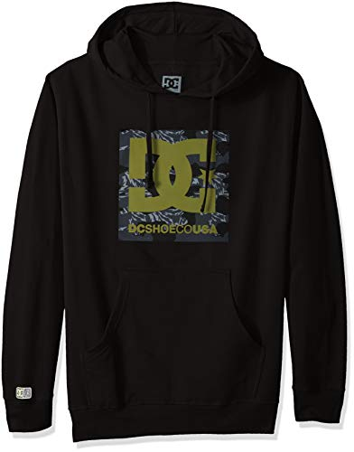 (DC Apparel Men's Ken Block Founders Series Pullover Sweatshirt Hoodie, Black KB camo PH,)