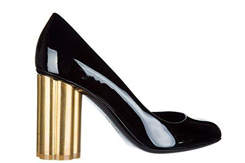 Pumps Leather Women's Black high Court Shoes Salvatore Ferragamo Heel Lucca wqtxCECf
