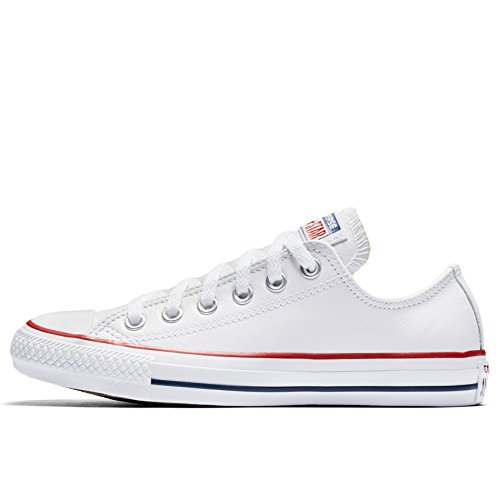 132173C Star Bianco Leather Chuck Taylor all Converse SnxRw18q4