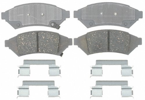 ACDelco 14D1000CH Advantage Ceramic Front Disc Brake Pad Set with Hardware